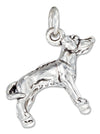 Sterling Silver Three Dimensional Rhodesian Ridgeback Dog Charm