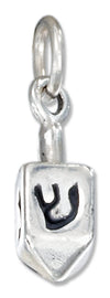 Sterling Silver Three Dimensional Dreidel Charm