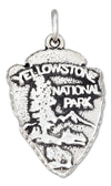 "Sterling Silver Arrowhead Shape ""Yellowstone National Park"" Sign Charm"