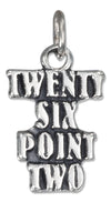 "Sterling Silver Antiqued Marathon ""Twenty Six Point Two"" Charm"