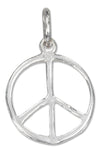 Sterling Silver 16mm Peace Sign Charm