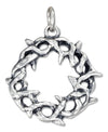 Sterling Silver Antiqued Crown Of Thorns Charm
