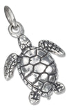 Sterling Silver Three Dimensional Sea Turtle Charm