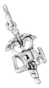 "Sterling Silver Nurse's Symbol Licensed Practical Nurse ""Lpn"" Charm"