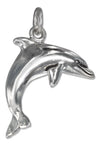 Sterling Silver High Polish Jumping Dolphin Charm