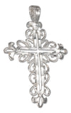 Sterling Silver Fancy Filigree Cross Pendant