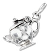 Sterling Silver Three Dimensional Teapot Charm That Opens