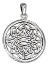 Sterling Silver Round Filigree Celtic Knot Pendant