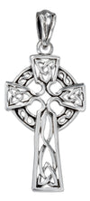 Sterling Silver Antiqued Filigree Celtic Cross Pendant