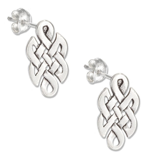 Sterling Silver Mini Celtic Knot Earrings on Stainless Steel Posts and Nuts