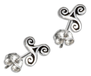Sterling Silver Tiny Celtic Swirl Earrings