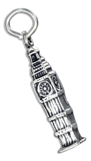 Sterling Silver Big Ben Clock Charm