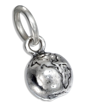 Sterling Silver Earth Charm