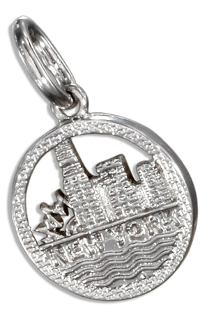 Sterling Silver New York Skyline Charm