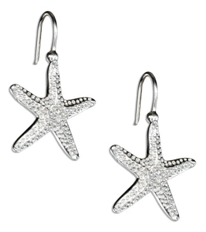 Sterling Silver Starfish Earrings