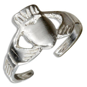 Sterling Silver Irish Claddagh Toe Ring