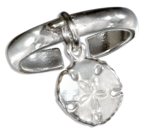 Sterling Silver Sand Dollar Charm Toe Ring