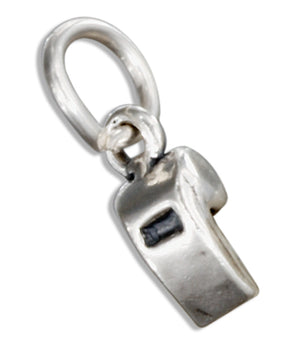 Sterling Silver 3D Referee's Whistle