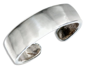 Sterling Silver High Polish Flat Toe Ring
