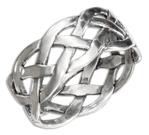Sterling Silver Open Weave Braided Band Ring