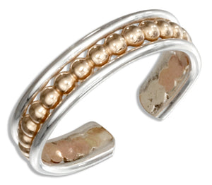 Sterling Silver and 12 Karat Gold Filled Beaded Toe Ring