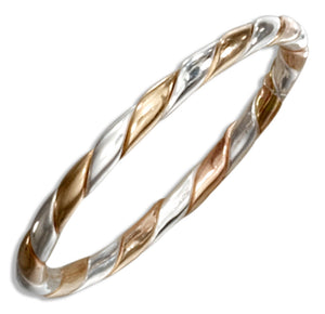 Sterling Silver and 12 Karat Gold Filled Alternating Stripe Ring