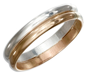 Sterling Silver and 12 Karat Gold Filled Double Band Ring