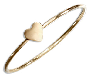 12 Karat Gold Filled Wire Ring with Heart