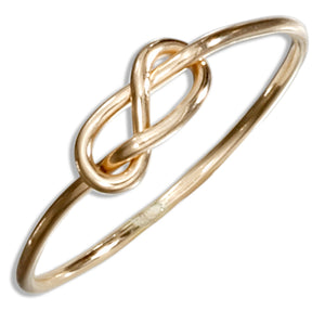 12 Karat Gold Filled Wire Infinity Knot Ring