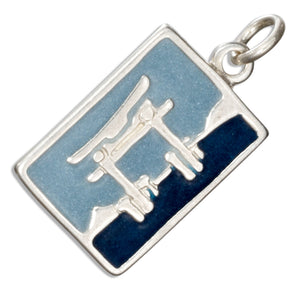 Sterling Silver Enamel Japan Post Card Charm