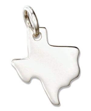 Sterling Silver Silhouette Texas State Charm