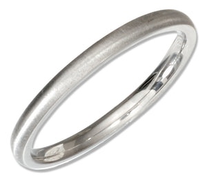 Stainless Steel Brushed 2mm Wedding Band Ring