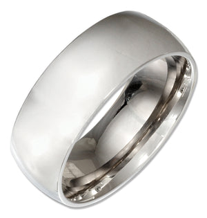 Stainless Steel 8mm Wedding Band Ring