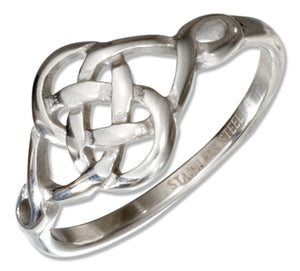 Stainless Steel Irish Celtic Figure Eight Knot Ring