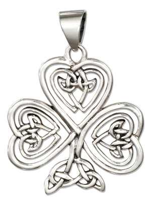 Sterling Silver Filigree Celtic Shamrock Pendant