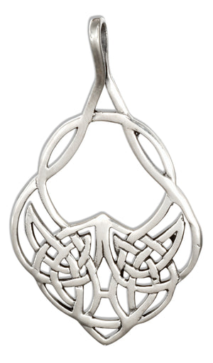Sterling Silver Fancy Teardrop Celtic Knots Pendant