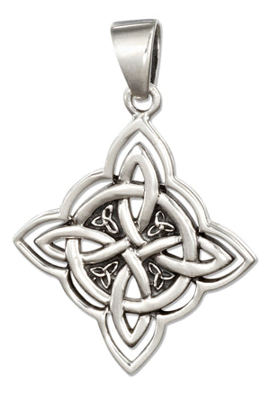 Sterling Silver Four Point Celtic Knot Pendant