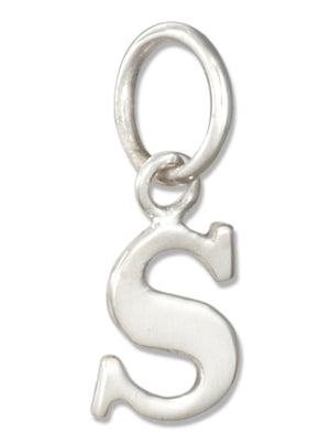 "Sterling Silver Lower Case Letter ""S"" Initial Charm"