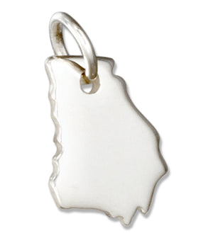 Sterling Silver Georgia State Silhouette Charm