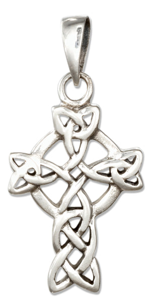 Sterling Silver Celtic Knot Celtic Cross Pendant
