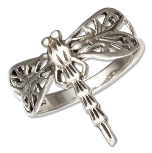 Sterling Silver Filigree Dragonfly Ring