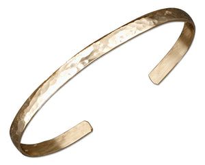 12 Karat Gold Filled 5mm Domed Hammered Cuff Bracelet