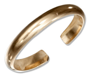 12 Karat Gold Filled 2.5mm Plain Band Toe Ring
