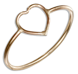 12 Karat Gold Filled Open Heart Wire Ring