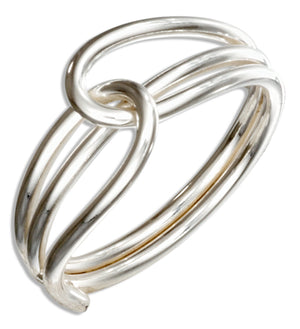Sterling Silver Wire Slip Knot Ring