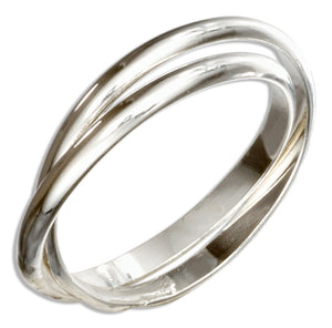 Sterling Silver Two Band Slide Ring