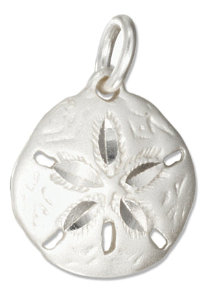 Sterling Silver Medium Sand Dollar Charm