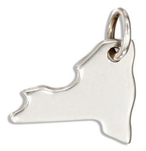 Sterling Silver New York State Silhouette Charm