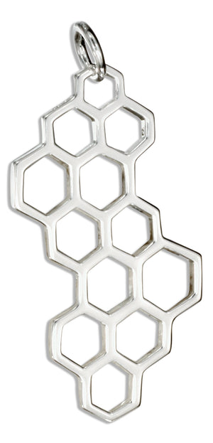Sterling Silver Honeycomb Charm