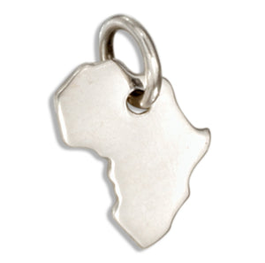 Sterling Silver Mini Africa Silhouette Charm